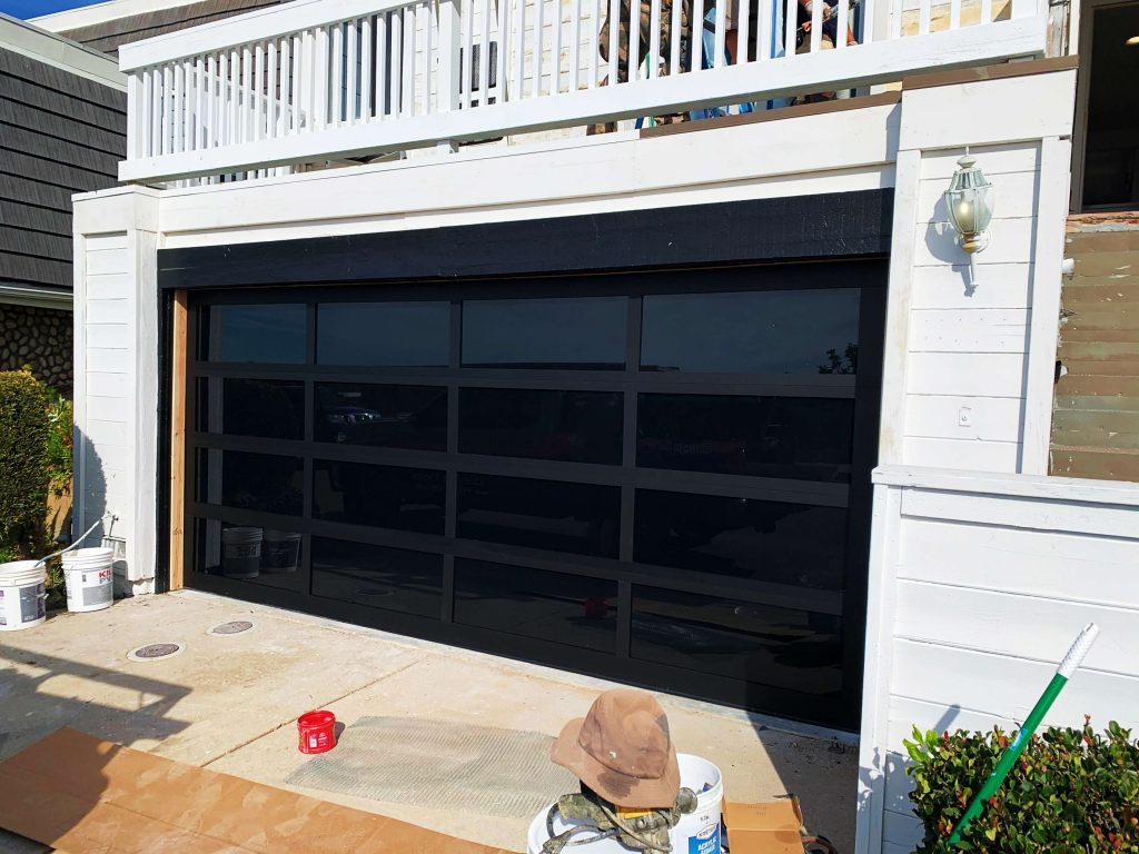 La Jolla Garage Door Install Frosted Doors
