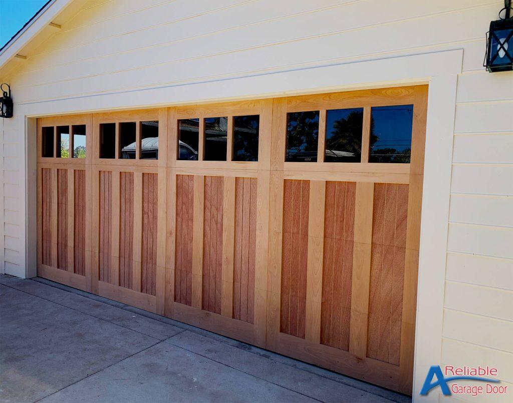 Carlsbad All Wood Red Cedar Garage Doorav